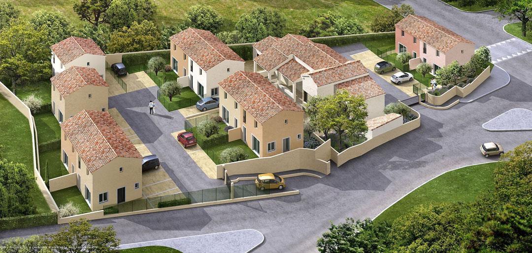 Lotissement 10 maisons mitoyennes